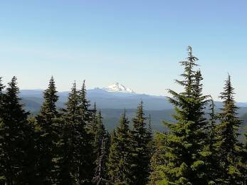 Mt Jefferson, from the southern flank of Mt Hood.
