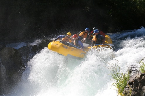Starting down Husum Falls- 14 foot drop